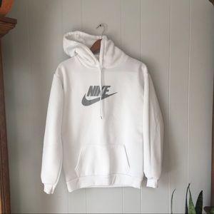 White Nike hoodie Large